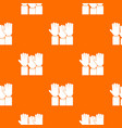 different people hands raised up pattern seamless vector image vector image