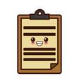 document board isolated kawaii cute cartoon vector image