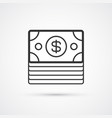 dollars pack flat line black icon eps10 vector image vector image