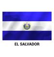 el salvador flag design vector image