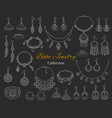 fashionable boho jewelry accessories collection vector image
