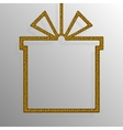 Frame Gold Sequins Gift Box Gift Surprise vector image