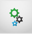 gears icon in colorful style vector image vector image