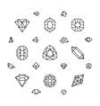 Geometric 3d crystal shapes diamond gems thin vector image vector image