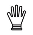 glove icon vector image vector image