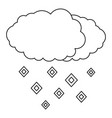 hail icon outline style vector image