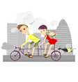 Healthy life-style family 2 vector image
