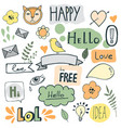 icons ribbons and speech bubbles vector image vector image