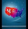 Independence Day map of america geometry vector image