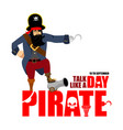 international talk like a pirate day pirate hook vector image vector image