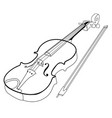 isolated violin outline vector image vector image