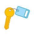 key room door icon vector image vector image