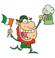 Leprechaun With A Golden Tooth vector image vector image