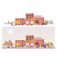 low poly 2d warehouse vector image vector image