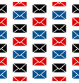 Mail symbol seamless pattern vector image vector image