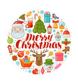 merry christmas greeting card xmas concept vector image vector image