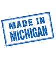 Michigan blue square grunge made in stamp vector image vector image