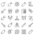 missile and air bomb outline icons set vector image