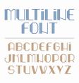 Multiline font vector image vector image