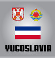 official government elements of yugoslavia vector image vector image