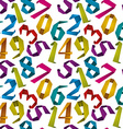 Origami style numbers seamless background vector image vector image