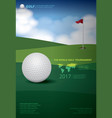 poster golf tournament championship vector image