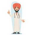 quality treatment turban arab male serious vector image vector image