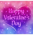 Romantic Valentines Day Card Of Night Sky vector image
