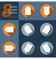 set of eight icons with arrows in all directions vector image