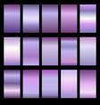 set of metal gradients vector image vector image