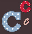 Set of stitched font - Letter C vector image vector image