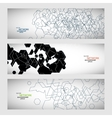 set three sets of abstract contour lines vector image