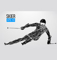 silhouette of skier isolated vector image