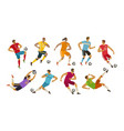 soccer players sport concept cartoon vector image vector image