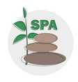 spa logo template spa stones hand drawn vector image
