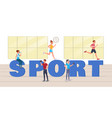 sport big letters vector image vector image