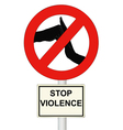 Stop violence vector image
