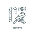 sweets line icon linear concept outline vector image vector image