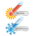 thermometer air conditioning and heating vector image vector image