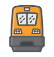 train filled outline icon transport and vehicle vector image vector image
