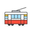 tram filled outline icon vector image vector image