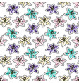 tropical flowers seamless pattern vector image vector image