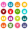 underwear types icons set colorful circles vector image vector image