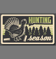 wood grouse or capercaillie bird hunting sport vector image vector image