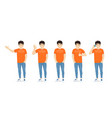 young asian man in casual clothes set vector image