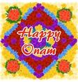 flower background for Indian festival Happy Onam vector image