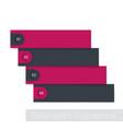 1234 steps timeline infographics vector image vector image