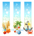 3 travelling banners vector image vector image