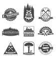 Carpentry sawmill and woodwork vintage logos