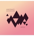 Abstract flat triangle background vector image vector image